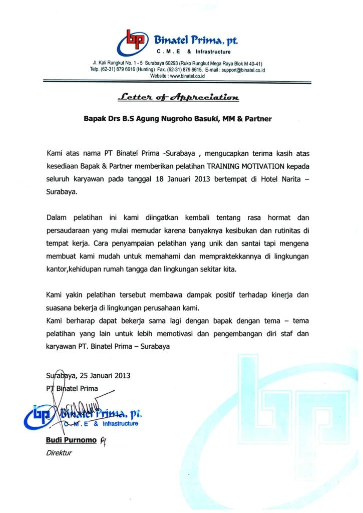Pelatihan Motivasi Karyawan Surabaya